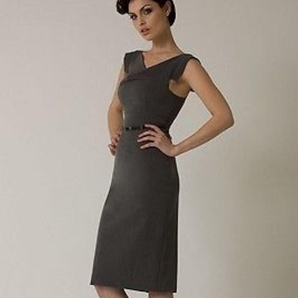 8704627f Black Halo Dresses & Skirts - Black Halo Classic Jackie O Dress Charcoal  Gray